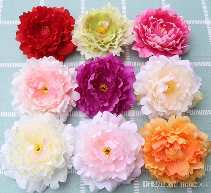13 centimetri di testa di peonia di seta di teste di fiore di peonia rosa artificiale per la decorazione di tavola di casa coperta decorazione della festa nuziale diy