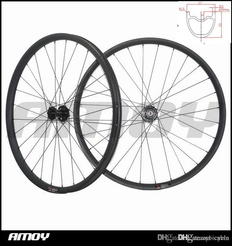 27.5er MTB XC race 27mm wide offset Mountain Bike Carbon racing Wheel set