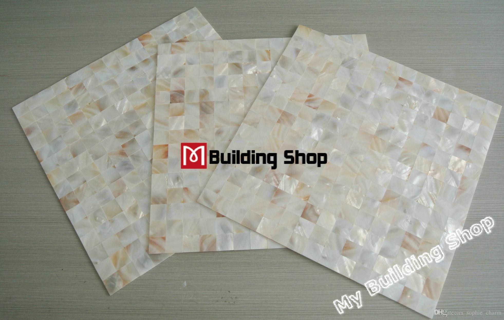 20x20mm natural white mother of pearl wall backsplash tile MOP081 groutless shell mosaic bathroom flooring tiles