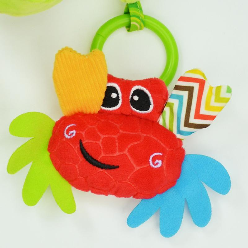 Chocalhos Brinquedos Mobiles Bendable Crib infantil Hanging Toy cama sino Música Papel Rustle Teethers para o bebê