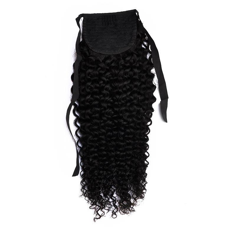 100% menschliche remy Haar Pferdeschwanz für schwarze Frauen günstigen Preis geschweiften Pferdeschwanz 100 Gramm eines Stück, freies DHL