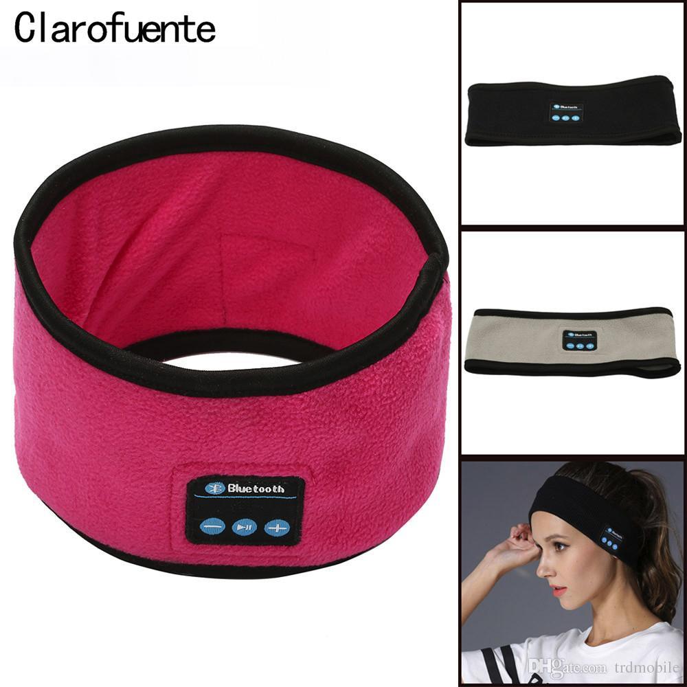 Smart Velvet Knitting Bluetooth 4.2 Headband with Earphone Mic,Wireless Music Headset Earpiece for Yoga Sleep Running Gym Sports