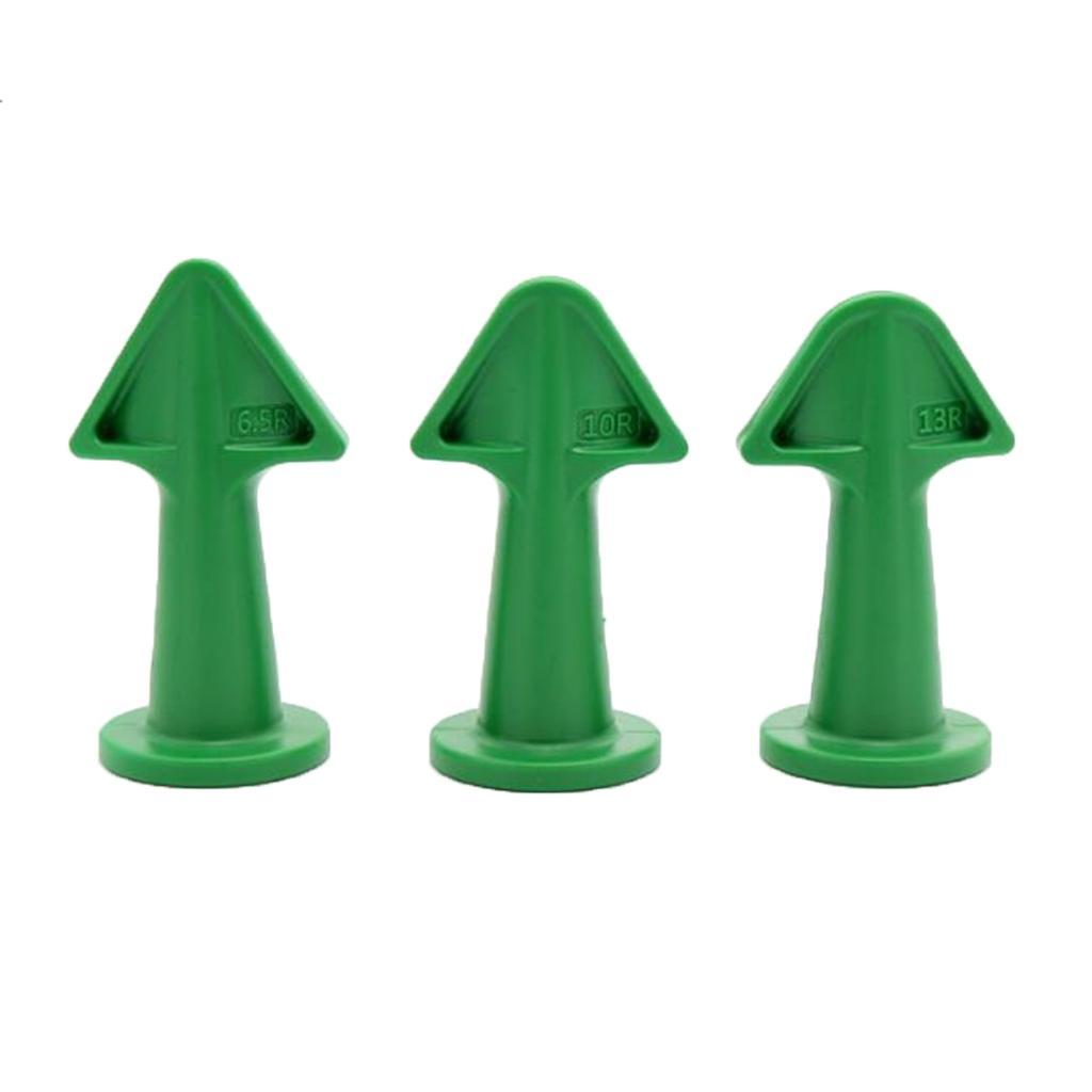 Set de 3 durable silicone calfeutrer Kit de finition Buse de remplissage d'accessoires vert