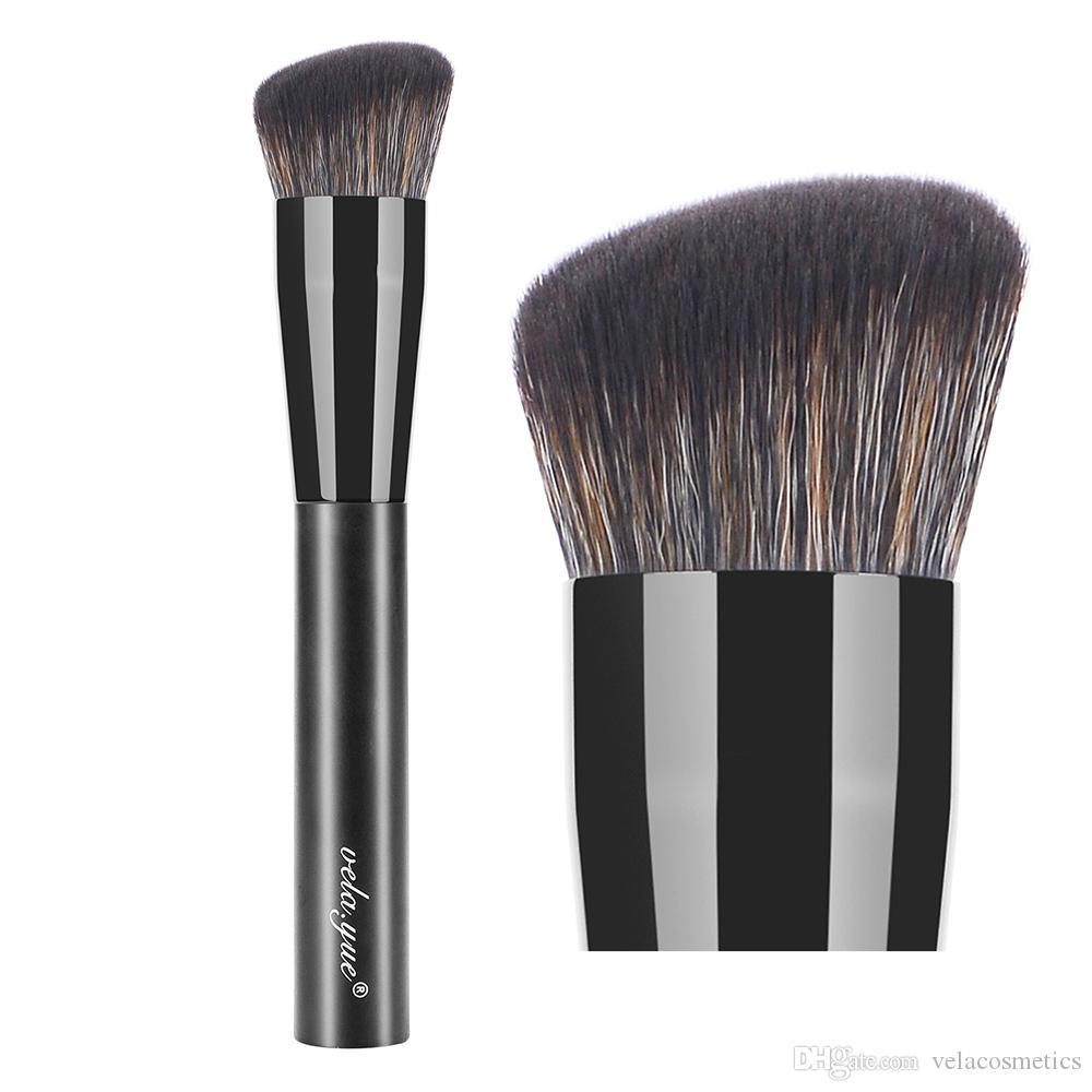 vela.yue Puder-Foundation-Make-up-Pinsel Synthetische abgerundete Schrägbürste für Liquid Foundation Primer-Basiscreme Beauty Cosmetic Tool
