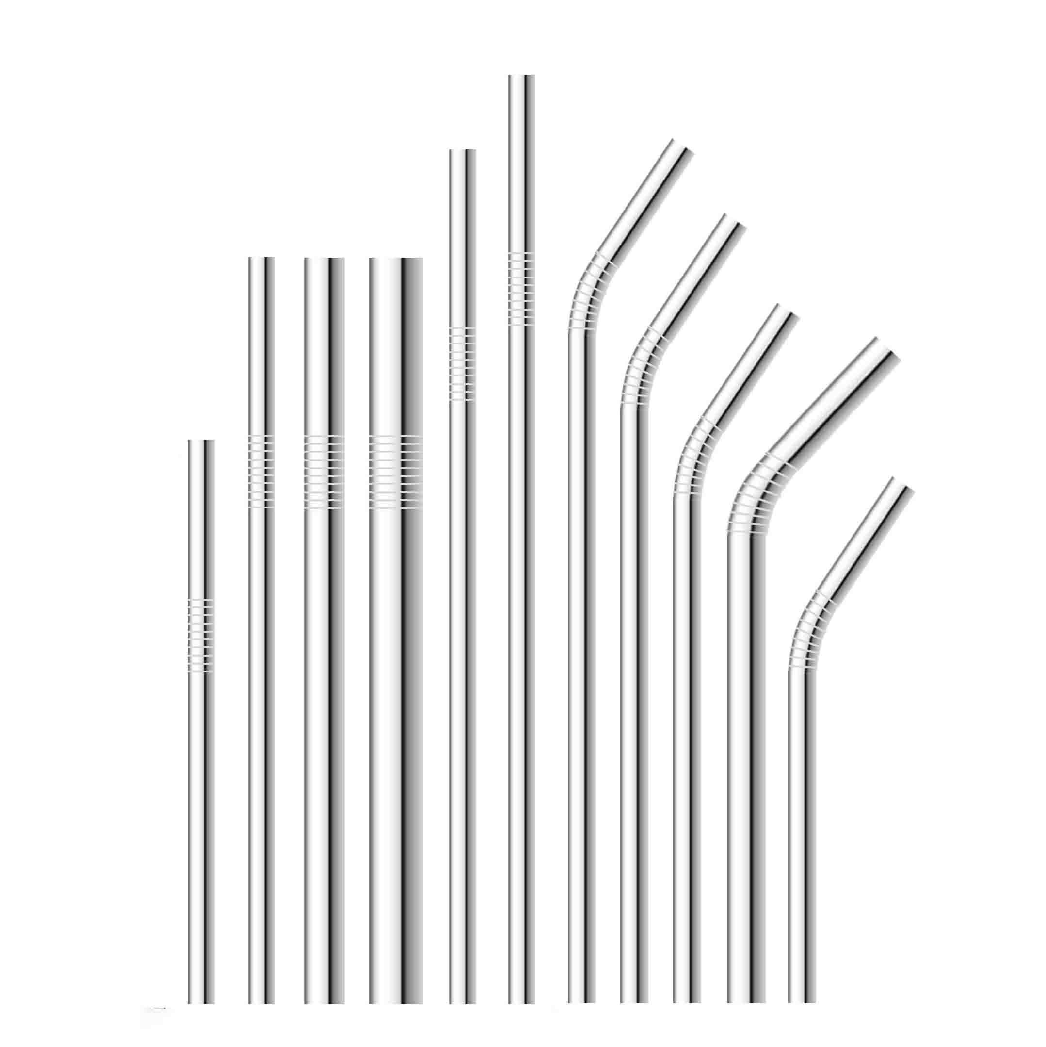 Más tamaño Barra de pajitas reutilizables Paja para beber con cepillo de limpieza Juego de pajitas de metal de acero inoxidable 304 ecológico de alta calidad para tazas