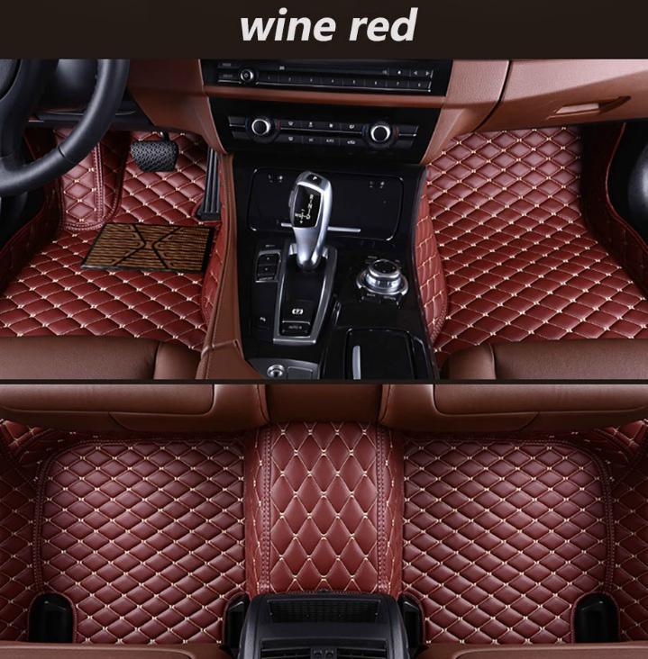 Mercedes Benz A45 AMG 2014-2017 Araç Ayak Pedi Lüks Surround Su geçirmez deri Araç Ayak Pad için /