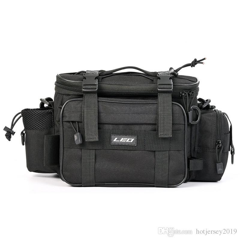40*17*20cm Fishing Bag Men Women Multifunctional Waterproof Outdoor Waist Shoulder Case Reel Lure Rod Storage Bag Fishing Tackle #214302