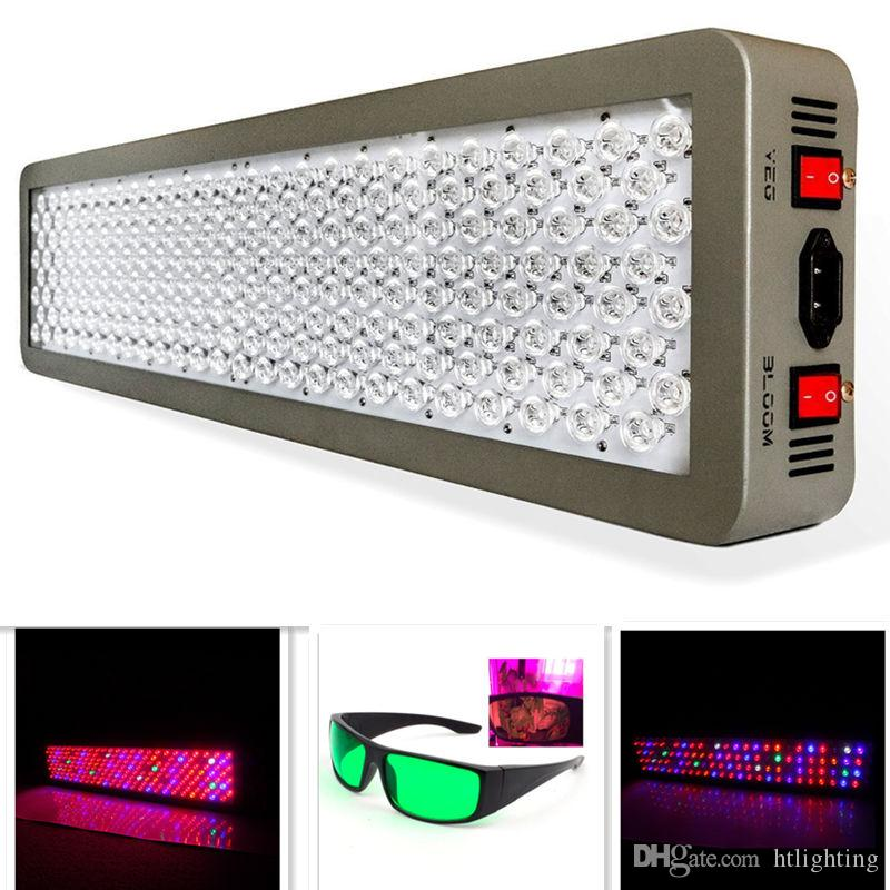 12-Band Medical P600 600W Full Spectrum LED Plant Grow Light VEG/BLOOM Dual Chip Hydroponics Grow Tent Lamp FREE Goggles P300 P450