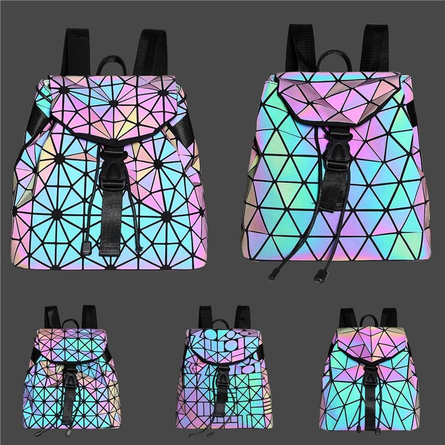 Designer 2020 Backpack Moda mulheres sacos Pu Luminous Designer de Moda Bag3485 Bolsa de compras de mão # # 992