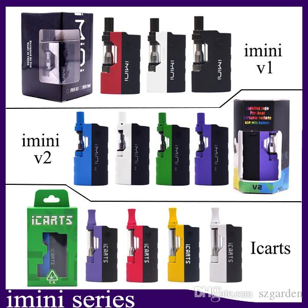 100% auténtico Imini v2 Icart Kit con 0,5 / 1,0 ml cartuchos Precalentar batería Mod Fit libertad v1 v9 v14 ac1003 vs batería uni vmod