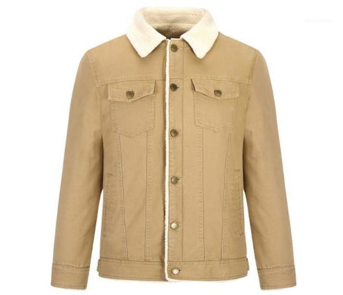 Нагрудные шеи длинным рукавом Теплый стиль Homme Одежда Мода Стиль Повседневная одежда Мужская осень Дизайнер сплошной цвет куртки