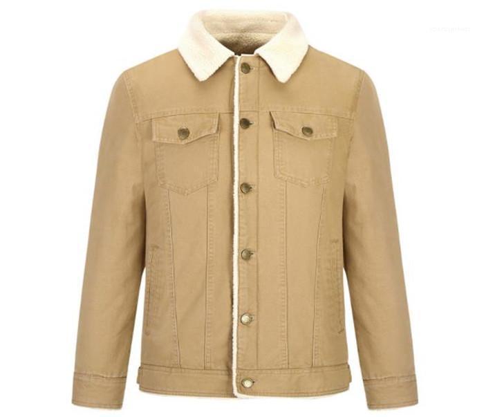 Warm risvolto collo maniche lunghe Stile Homme Abbigliamento modo di stile casual Abbigliamento Uomo Autunno Designer Solid colore dei rivestimenti