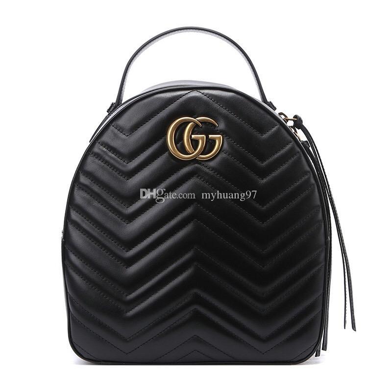 고품질 패션 럭셔리 디자이너 Marmont에 PU 가죽 미니 여성 가방 어린이 학교 가방 배낭 유명한 레이디 배낭 가방 여행 가방