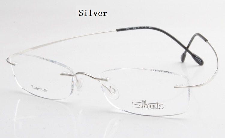 Lunettes de luxe monture titane sans monture avec monture optique sans monture de lunettes à vis sans prescription avec livraison gratuite