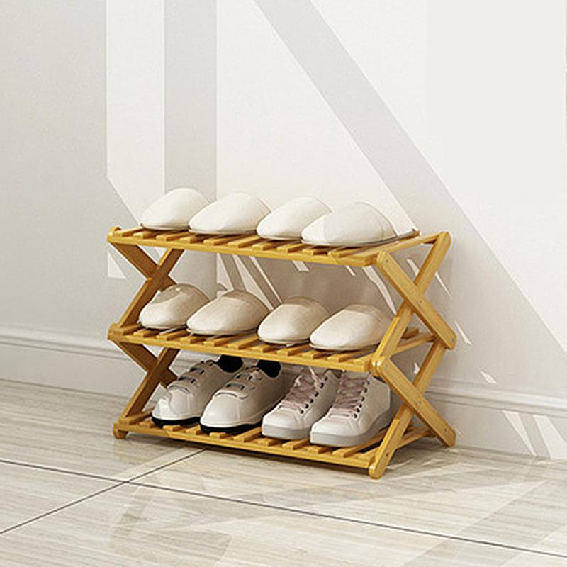 Bambus Schuhschrank faltender Aufbewahrungsregal Schlafzimmer Wohnmöbel Organizer