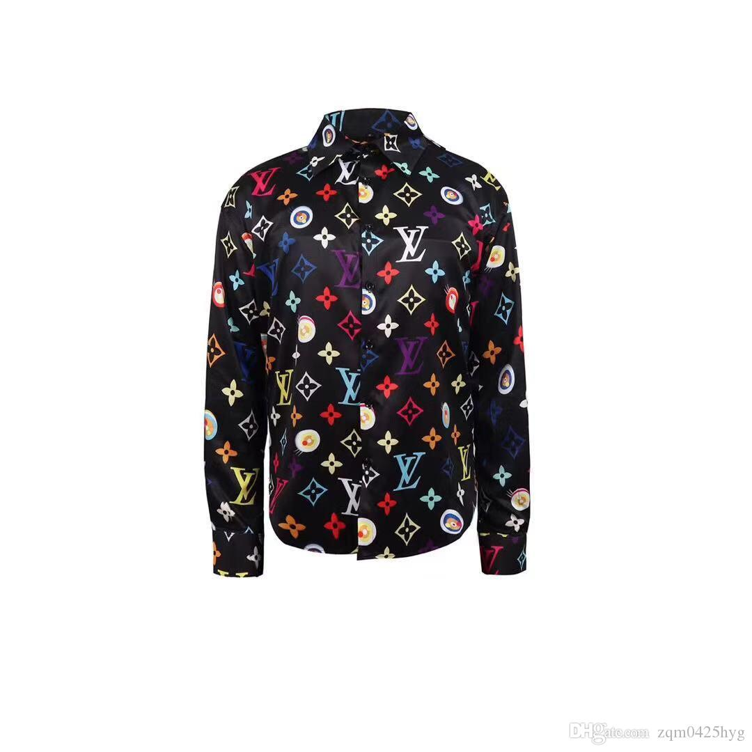 2019 Роскошные мужские Дизайн Slim Fit Medusa рубашки вскользь рубашки платья 3D Harajuku с длинными рукавами Бизнес медузы рубашку
