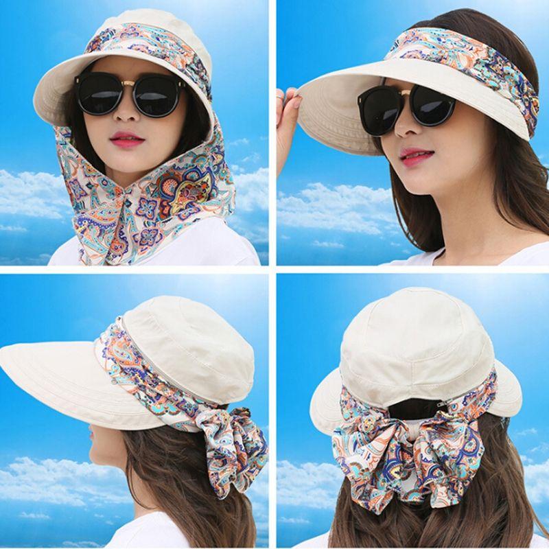 챙이 넓은 꽃 목 안면 보호 비치 모자 캡 모자, 스카프, 장갑 모자를 들어 여성 이동식 레이디 여성 드레스 모자 파나마 Chapeau F