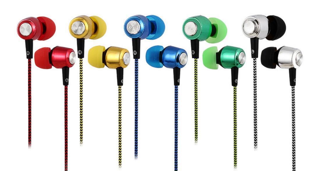 상자없이 마이크와 헤드폰베이스 인 - 이어 헤드폰 헤드폰 도매 휴대 전화를 전기 SF-A13 3.5mm의 색상 꼰 와이어