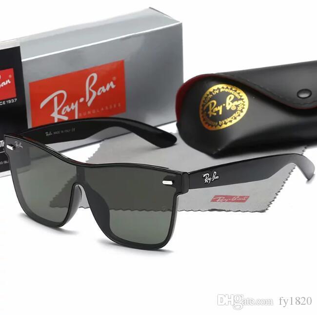 Las nuevas gafas de sol 2019 miopía gafas de sol hombres marea que restaura maneras antiguas rana espejo conducir conducir gafas de sol 7029 con caja original