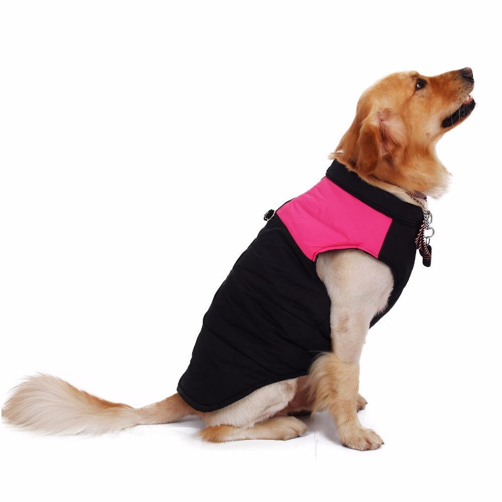 100% High quality Dog Clothes Winter Clothing Large Dog Vest Warm Apparel Pet Clothes High Quality Clothing For Dog Pet Supplies