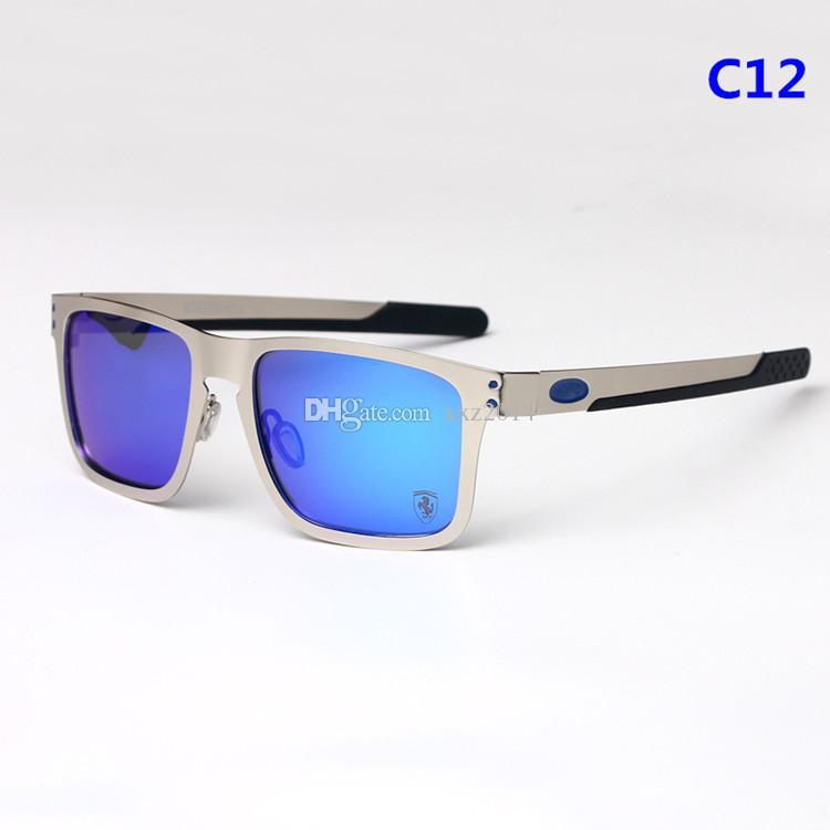 EU-AM كبير حافة النظارات الشمسية المستقطبة O4123 خارج ركوب الدراجات نظارات ريفو مرآة عدسة جودة سبيكة إطار سيليكون هلام المعبد