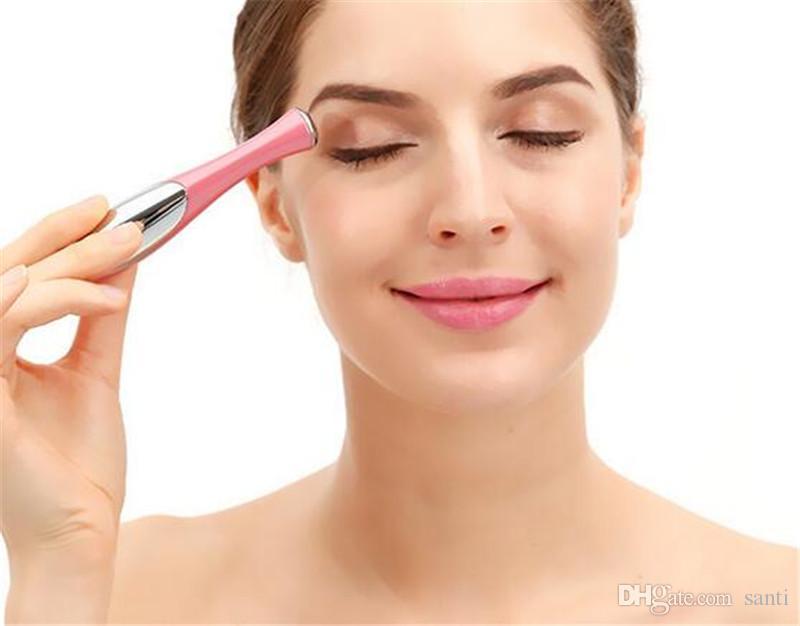 Beauty Mini Eye Massage Device Tipo di penna Electric Eye Massager Facials Vibrazione Thin Face Magic Stick Anti Bag Pouch Wrinkle