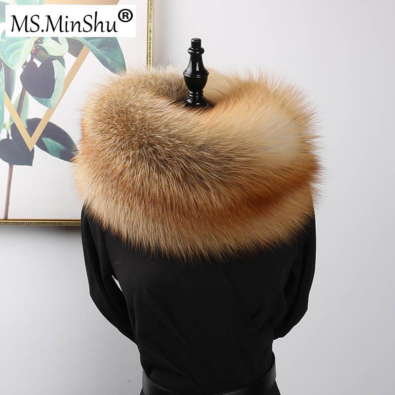 wholesale Luxury Genuine Fox Fur Scarf Real Fox Skin Scarf Big Size Natural Fox Fur Shawl Winter Women Stole Drop shipping