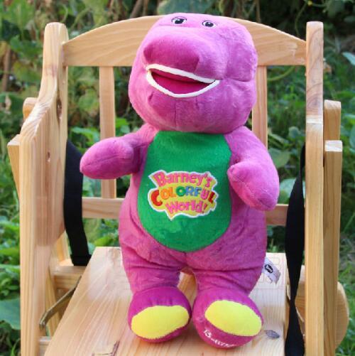30cm Barney Dinosaur Singing Kids Plush Toy Cartoon Doll Plush Soft Stuffed Animal Doll Toy for Kids Christmas Gift Sing I LOVE YOU