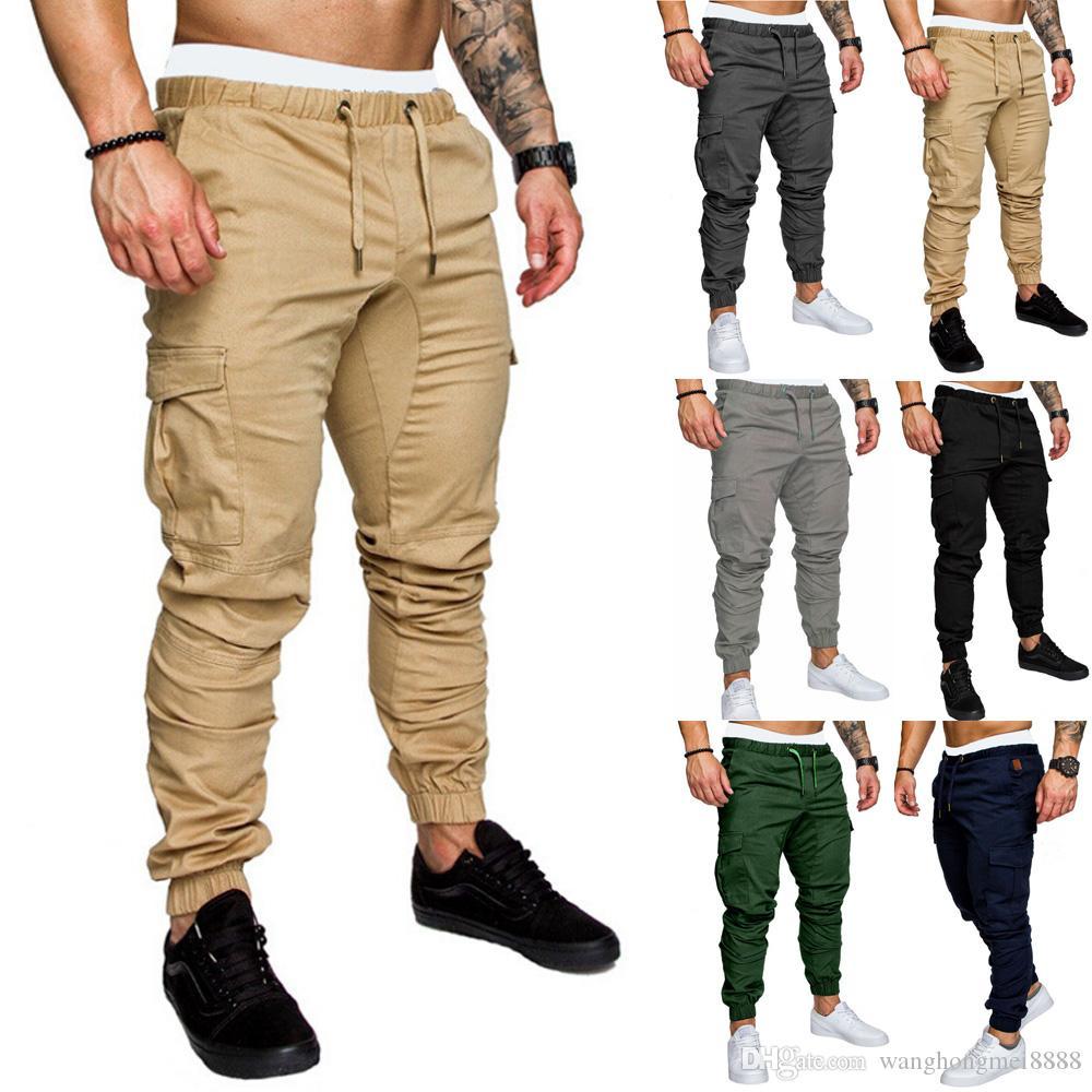 Compre Moda Para Hombre Skinny Urban Straight Cargo Pants Pantalones De Pierna Casual Pencil Jogger Tactical Cargo Pants Hombre Ejercito Pantalones A 8 18 Del Wanghongmei8888 Dhgate Com