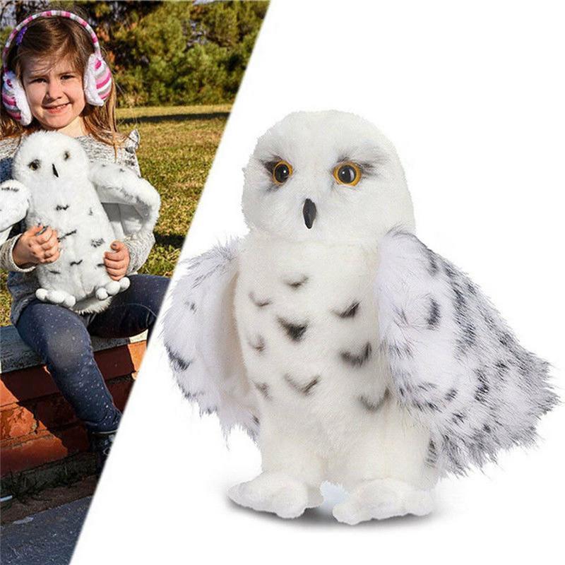 3 Size Premium Quality Douglas Wizard Snowy White Plush Hedwig Owl Toy Potter Cute Stuffed Animal Doll Kids Gift 7.5 inch 10 inch 12 Inch