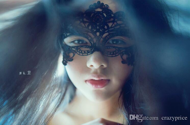 Sexy Spitze-Partei-Masken der neuen Frauen-Dame-Mädchen Halloween Weihnachten Cosplay Masquerade Tanzen Valentine halbe Gesichtsmaske YSY349-L