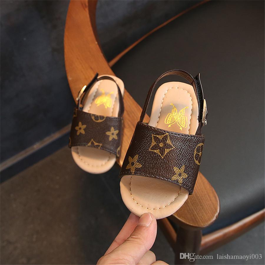 En Yeni Tasarımcılar Yaz Boys Kız Sandalet Bebek Çocuk Ayakkabıları 4 Styles Bebek Terlik Yumuşak Alt Çocuk Ayakkabı Çocuk Tasarımcı Ayakkabı
