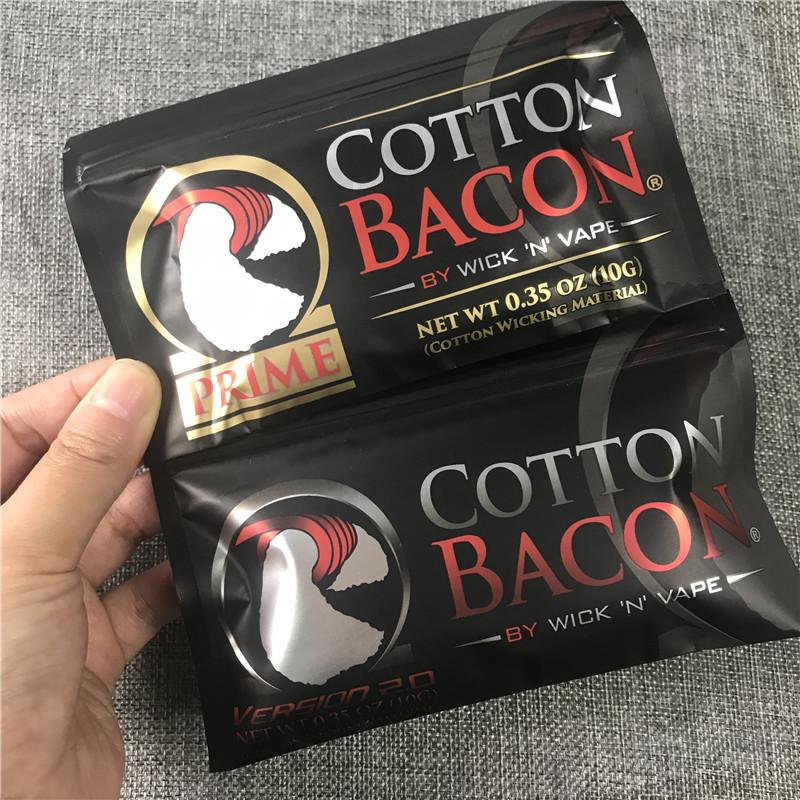 Cotton Bacon V2 Version 2.0 Wick /'N/' Vape Organic Wicking Material 2018 IT