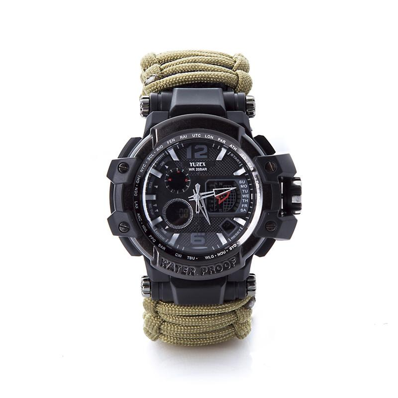 New Outdoor Survival Watch Bracelet Multi-functional Waterproof 50M Watch For Men Women Camping Hiking Military Tactical Camping Tools (5)