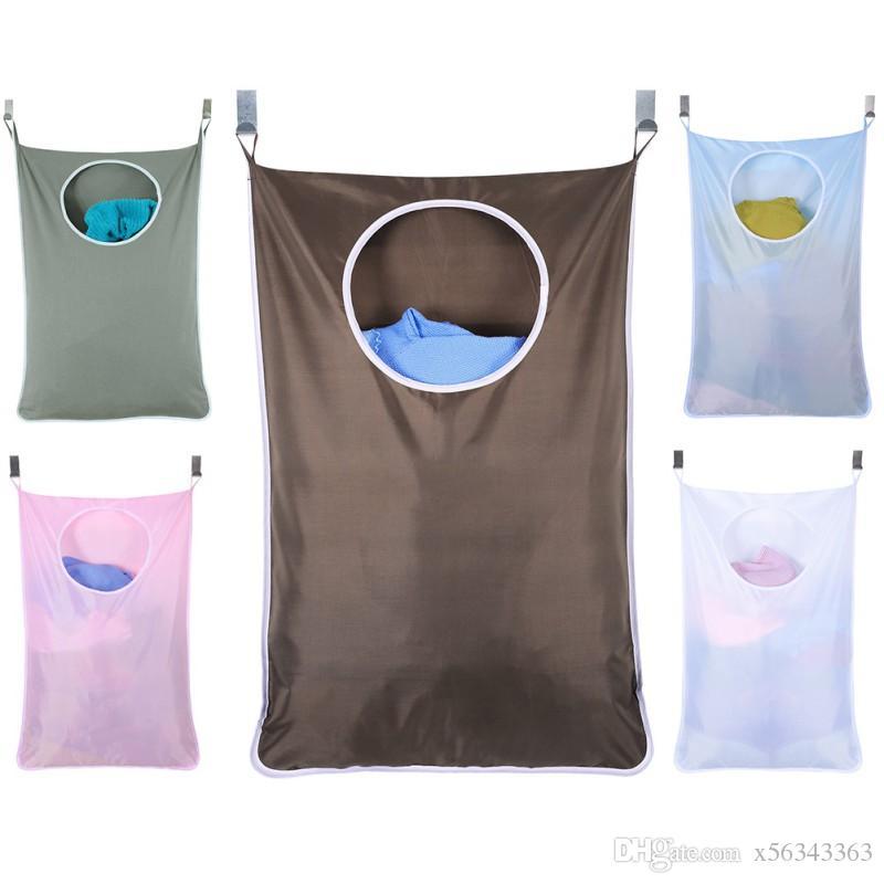 Sacos de suspensão de armazenamento em casa de grande capacidade de roupa suja lavanderia sacos atrás das portas portáteis duráveis sacos de oxford
