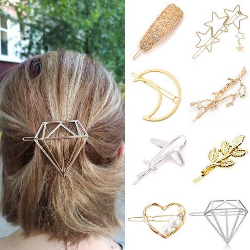 Клип Дешевые Женщины Женщины Девушки Леди Ребенок волос головной убор Hairwear Мода Золотой Серебряный Modern Cat Star Beach Party Starfish