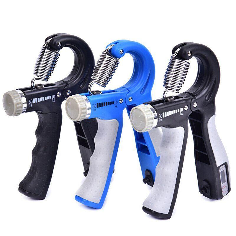 R-Forme réglable Countable Poignées Force Exercise Gripper avec compteur durable Force à la main Exercise Fitness Finger Expander