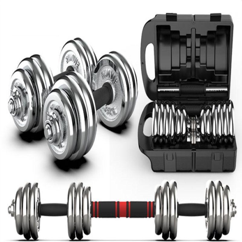 Dumbbell erkek spor ev kullanımı için ayarlanabilir ağırlık fitness ekipmanları 45kg, galvanik 15kg 20kg, 30kg halter.