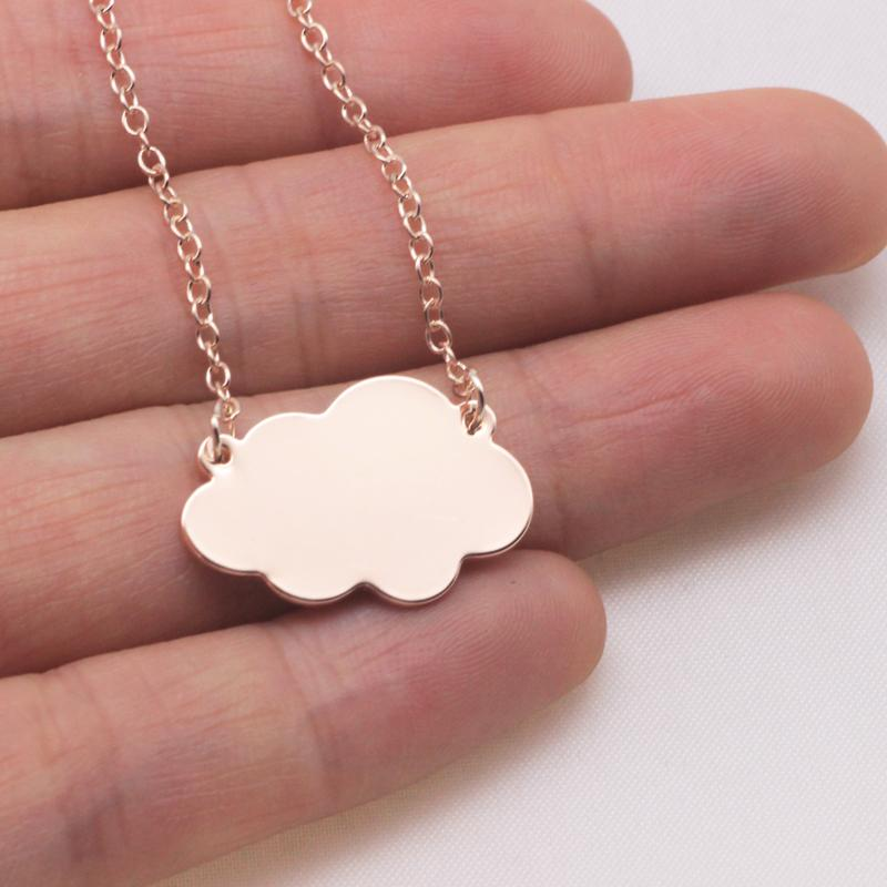 Cute Clouds Charm Necklace Wedding jewelry Best Gift For Friend 2 Colors Available Accept Drop Shipping YP6102