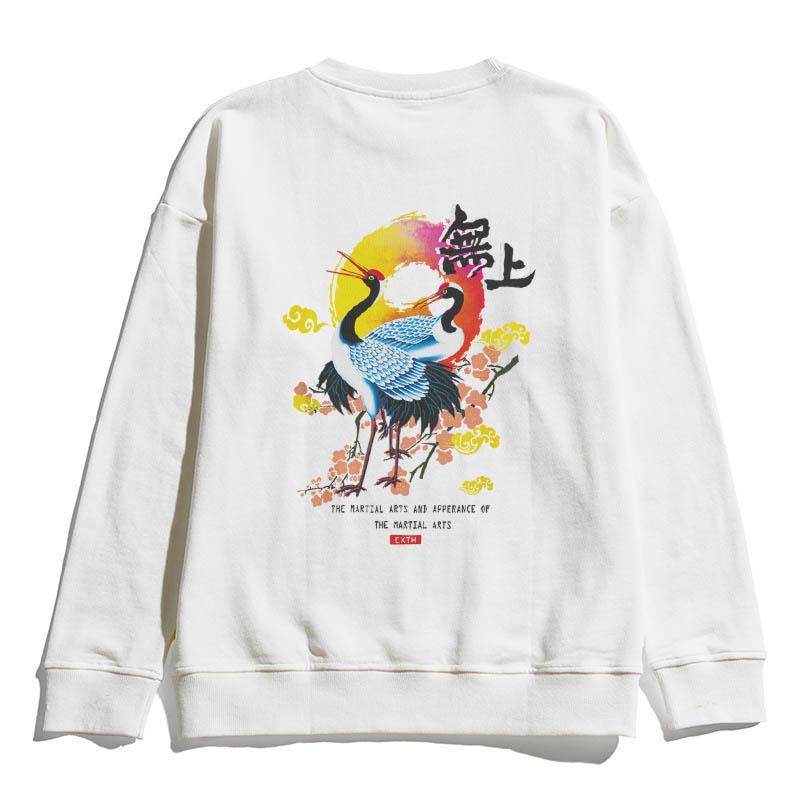 Hip Hop Street Style Sweatershirt Womens guindaste Mens Imprimir estilo chinês Sweatershirts Casual Designer Marca Pullover Top Quality B101731V