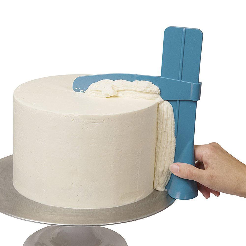 أدوات قشط الكعك البلاستيكي لخبز حافة الخبز قابلة للتعديل Spatulas Side Smoother Polisher Fondant Sugraft Mold DIY