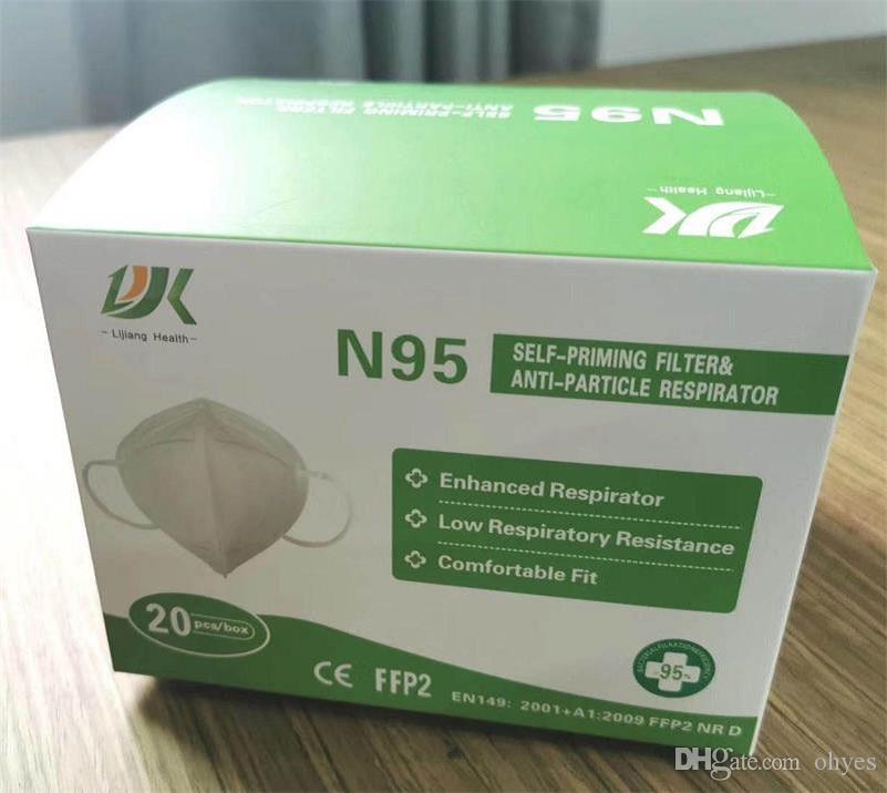 Honeywell N95 Máscara Respirador para partículas FFP2 Máscara Anti-polvo Máscara reutilizable KN95 Cara Con paquete al por menor 50pcs = 1pack