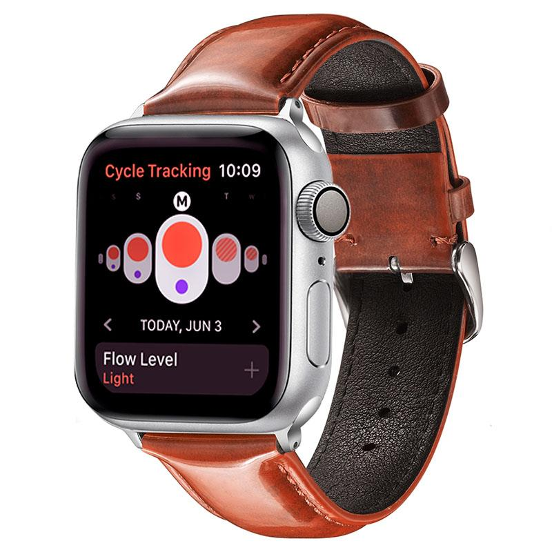 Genuine Leather Loop For Apple Watch Band 42mm Replacement Watchband for iwatch Series 1 2 3 4 5 44mm Strap 38mm Bracelet 40mm