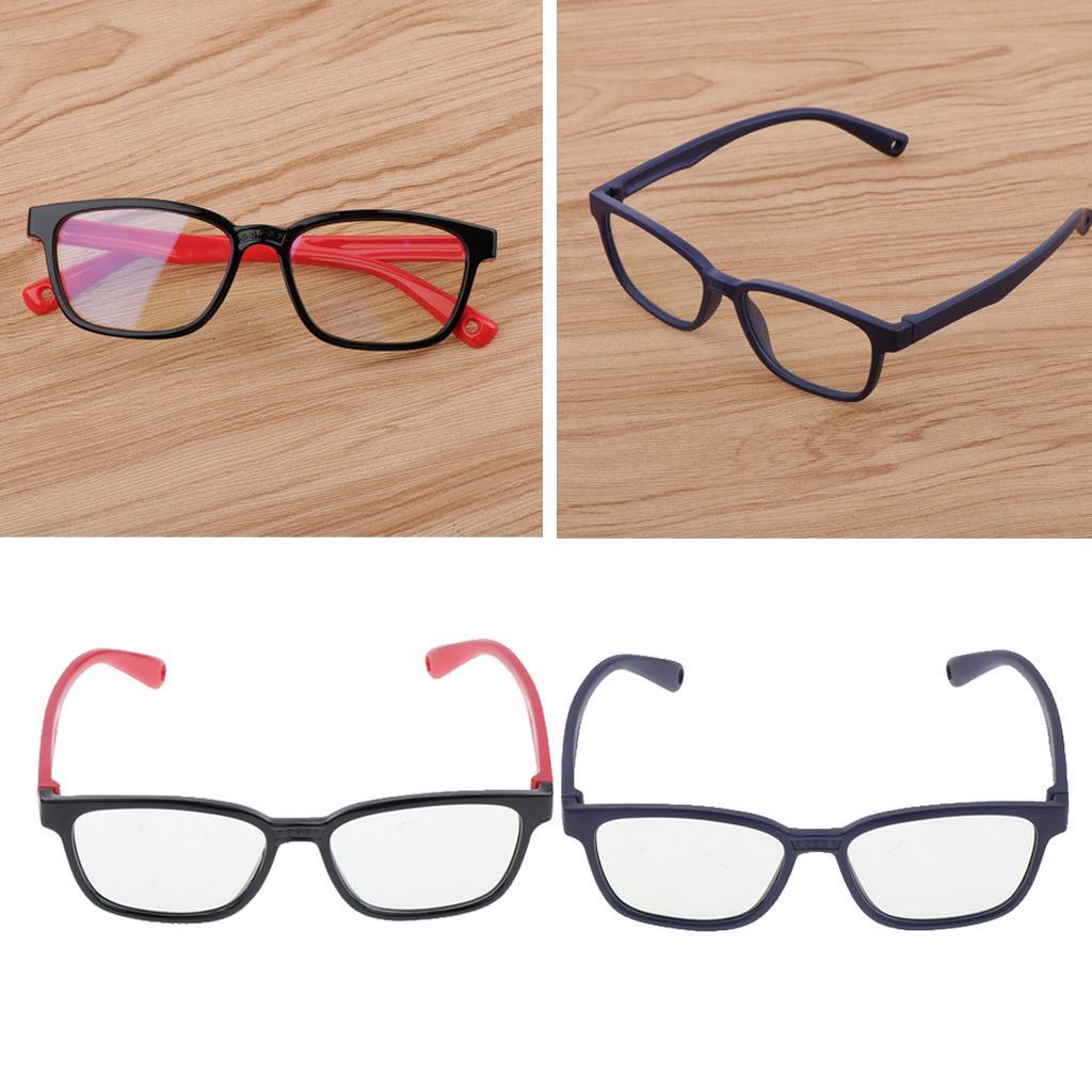 2pcs Kids Stylish Eye Glasses Blue-blocking Children Computer Gaming Glasses