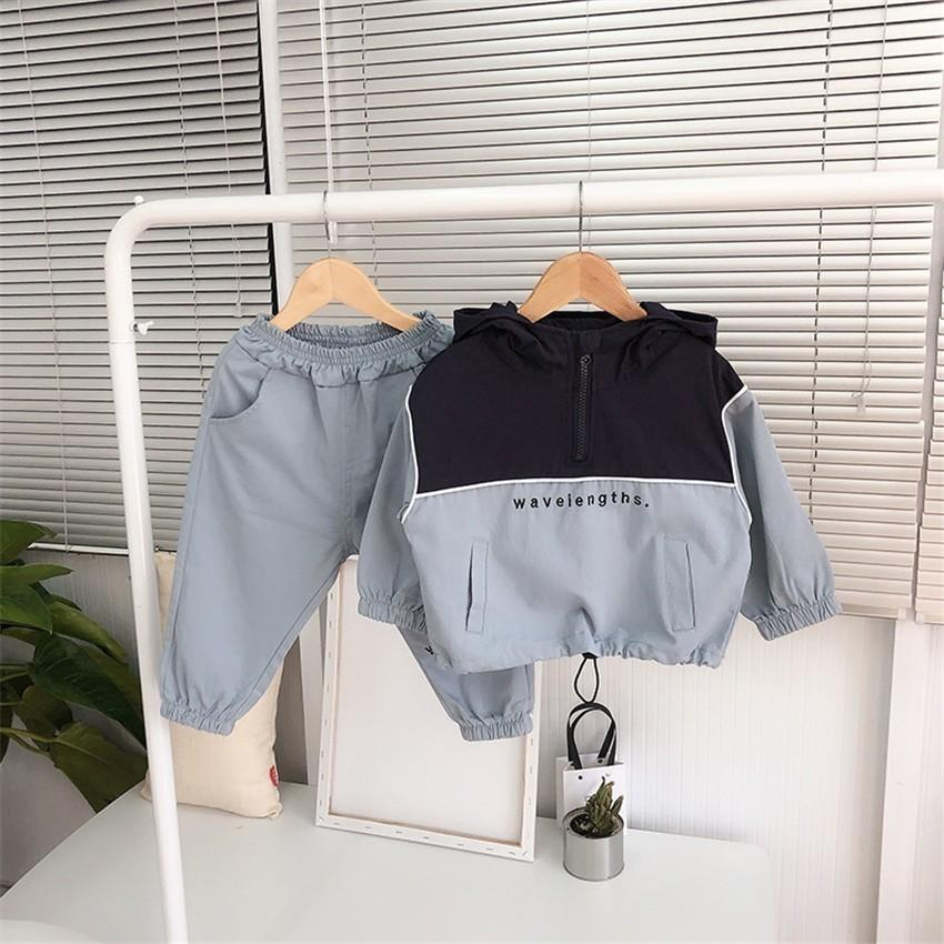 Unisex Clothing Sets Fashion Korean Hoodies + Pants Sport Suit For Girl Spring Autumn Boys Tracksuit Toddler Kids Clothes 2019 T200413