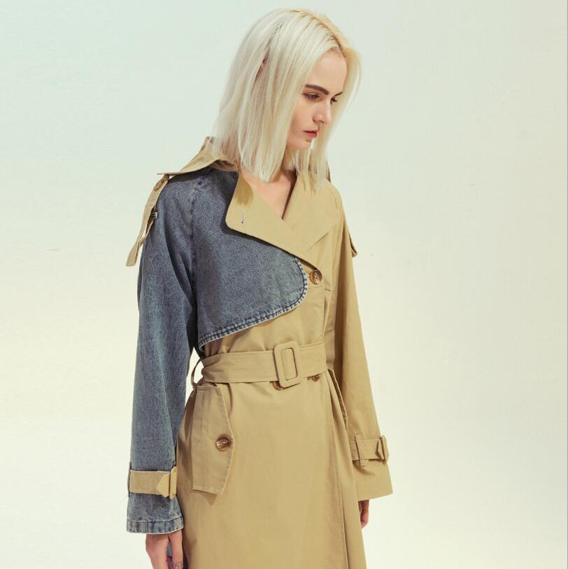 2020 donne di modo classico Inghilterra giuntura trincea britannico medio lunghi trench alta qualità per donne w515 soprabito