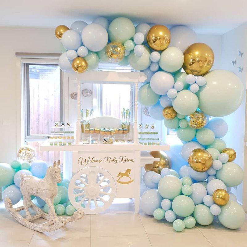 124 قطع diy بالون جارلاند معكرون النعناع الباستيل بالونات حفل زفاف عيد استحمام الطفل الذكرى حزب اللوازم