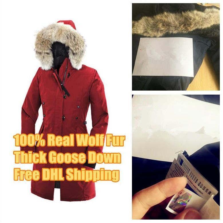 Inverno de Down parkas com capuz Canadá Kensington Lobo Fur Womens Casacos Zippers Designer casaco quente Brasão Outdoor Parka