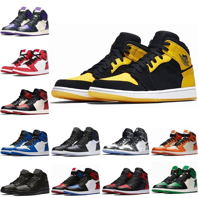 Nike Air Max Jordan 1 2 3 5 6 9 11 12 13 Hot 1 pallacanestro degli uomini dei pattini dell'alto Olimpiadi nel gioco pista reale rosso 1s Top 3 Rookie of the ou Anno Multi Color
