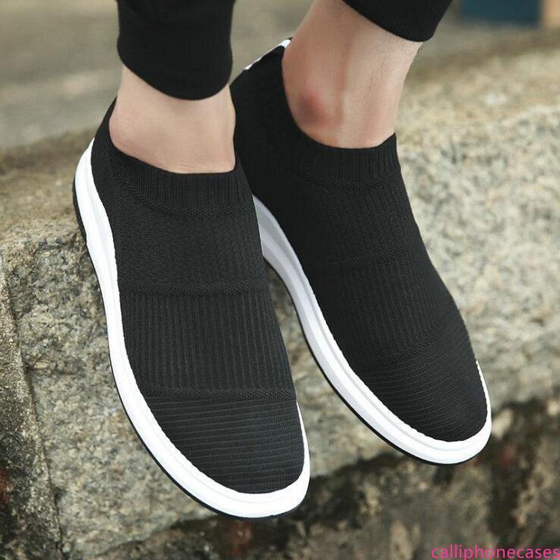 Männliche Mode Schuhe Turnschuhe Socken Schuhe Männer Mesh-beiläufige Schuh-Breathable Sommer Frühling gestrickte Fly Weben Wohnungen SCHUHE